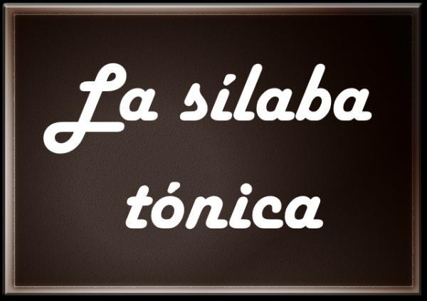 Español 4º, sílabas primera parte