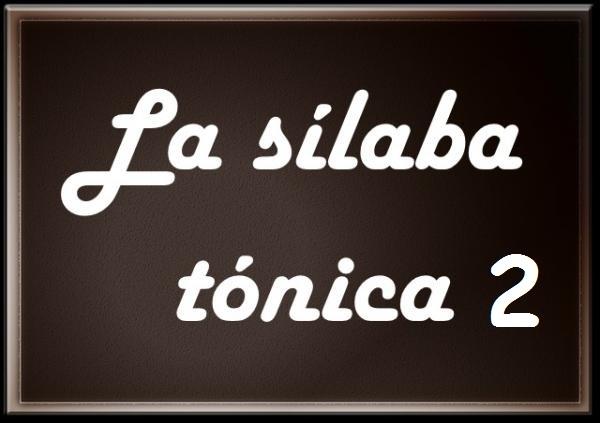 Español 4º, sílabas segunda parte